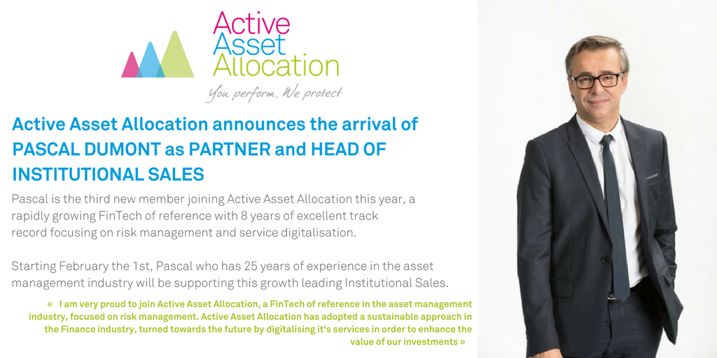 Pascal Dumont new Partner and Head of Sales at Active Asset Allocation
