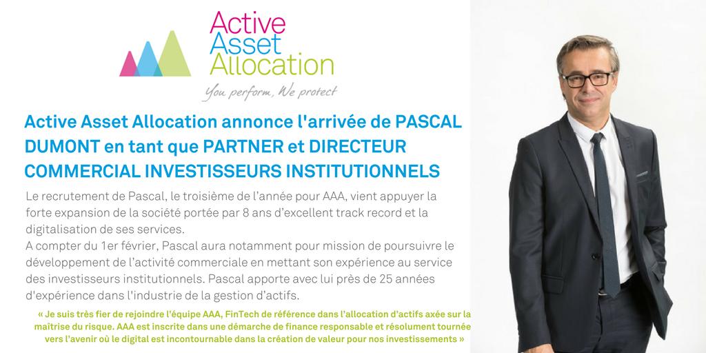 Pascal Dumont, nouveau Partenaire et Directeur commercial chez AAA