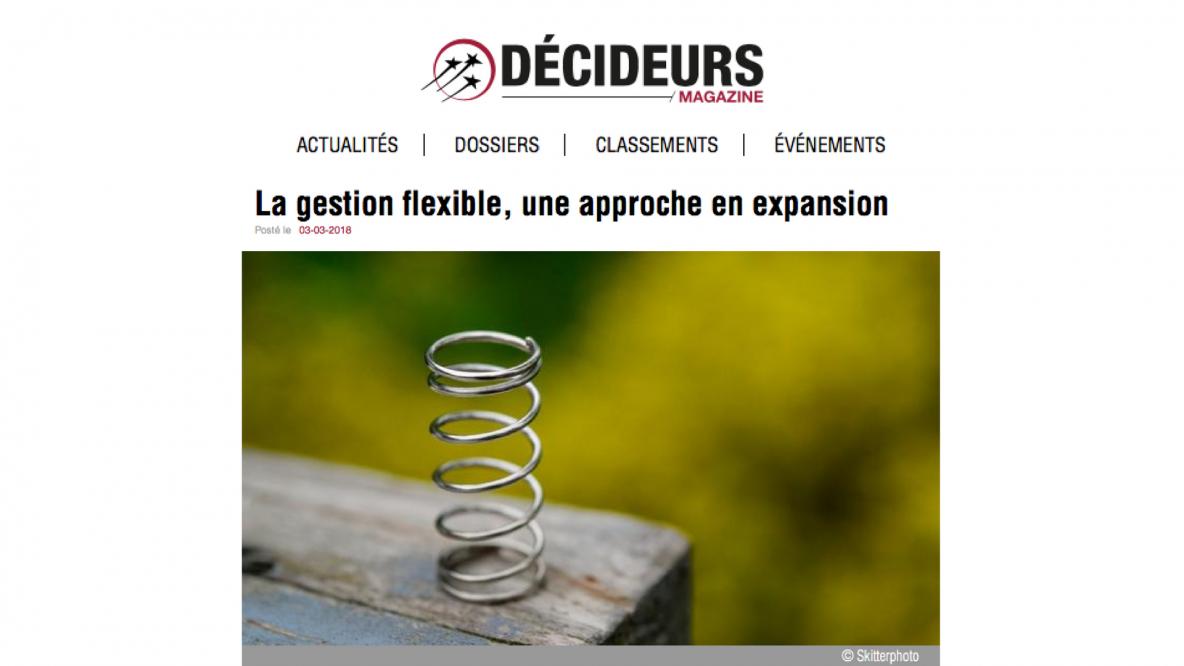 Article magazine Décideurs Magazine