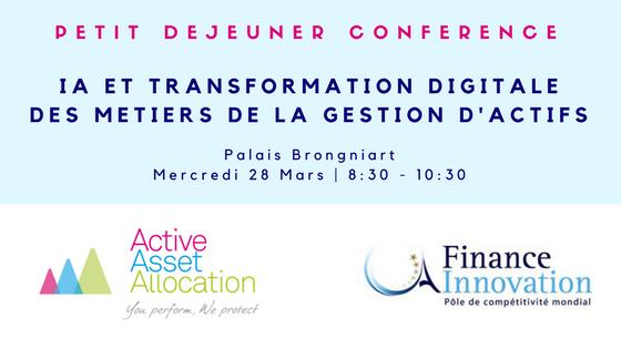 PDJ Conférence - IA ET TRANSFORMATION DIGITALE DES METIERS DE LA GESTION D'ACTIFS