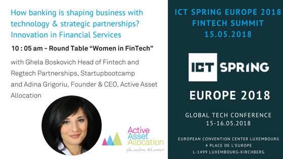 Adina Grigoriu at ICT SPRING EUROPE 2018